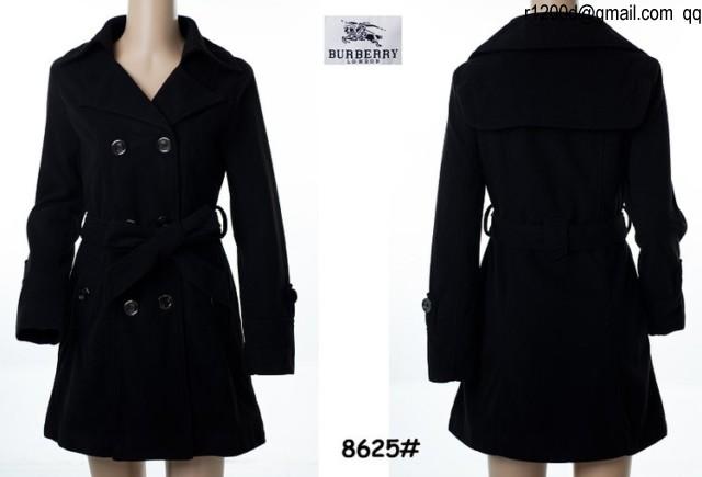 Noir LongueFoodseg Femme Trench Burberry Veste D92IEHW
