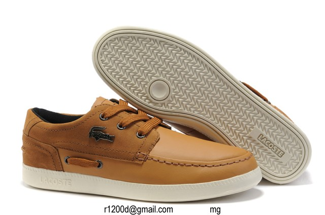 Cuir Bateau chaussures Lacoste chaussure Marron Chaussures xqPtYZwvF